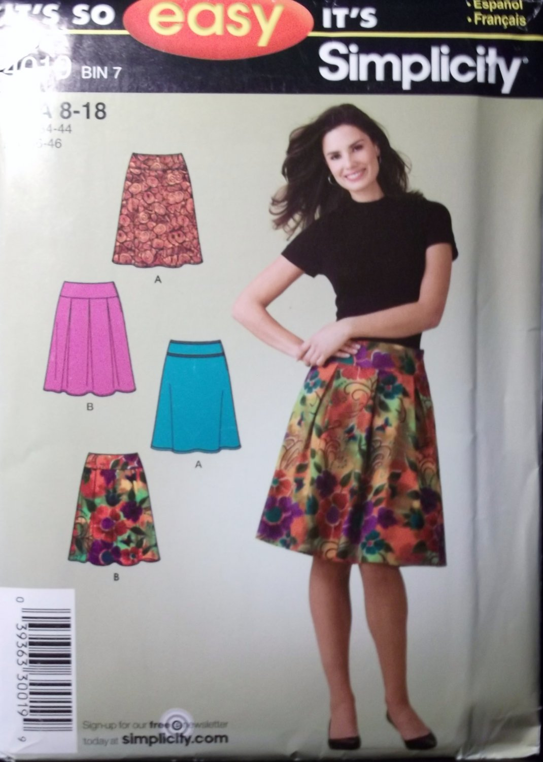 "Simplicity 4019 Misses ""It's so Easy"" Skirts Sizes 8, 10, 12, 14, 16, 18 UNCUT"