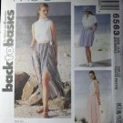 Wrap Skirt in 3 Lengths Misses McCalls Pattern 6563 Size 4 6, UNCUT