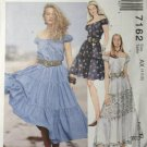 McCalls 7162 Sewing Pattern, Off Shoulder Tiered Skirt Dress, Size 4, 6, 8,  Uncut