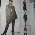 Easy McCalls 7291 Pattern Jacket Vest Tunic Skirt Pants, Size 6 8 10, UNCUT