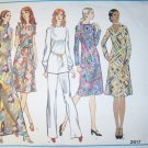 Vintage 1970s Vogue Pattern 2617, Misses Petite Dress Tunic  Pants,  Size 12, Bust 34