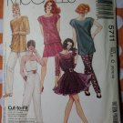 Vintage McCalls 5711 Sewing Pattern Misses Top,Camisole,Pants Sz.10 12 14 UNCUT