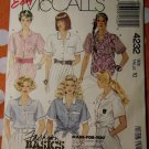 OOP McCalls 4232 Easy Pattern, Misses Tie-Front Shirt-Blouse, Size 10, UNCUT