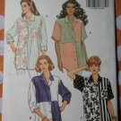 OOP Easy Butterick 6171 Sewing Pattern, Misses Shirt  Size 8 10 12, UNCUT