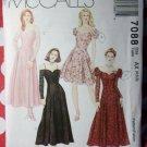OOP McCall's 7088 Pattern,  Misses Petite Off Shoulder Evening Dress, Sz, 4 6 8, UNCUT