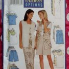 OOP Fast & Easy Butterick 4939 Pattern, Misses Petite Vest Top Tank Top Skirt Shorts, Sz 6-14, UNCUT