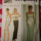 OOP Simplicity Designer 7637 Pattern, Bustier Top + Skirt, Size 16, 18, 20, Uncut