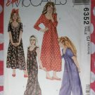 OOP Easy McCalls 6352 Pattern, Girl's Dress and Jumpsuit, Sz 10, 12, 14, UNCUT