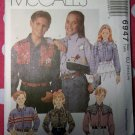 OOP McCall's 6947 Pattern Boys or Girls Western Shirt, Sz 10 12 14, UNCUT