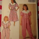 OOP Butterick 5474 Pattern, Girls Dress and Jumpsuit, Sz 7 8 10, Uncut FF