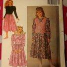 OOP Very Easy Butterick 5125 Sewing , Girls Dress & Vest, Sz 12 14, UNCUT, FF
