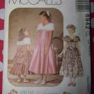 OOP McCall's 6942 Pattern, Girls Formal Dress, Sz 10, 12, 14, UNCUT