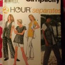 OOP Easy Simplicity 8984 Pattern, Misses Pants Shorts lined Vest & Tops, Sz 18 20 22 24, UNCUT