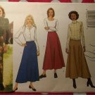 OOP Fast & Easy Butterick 3262 Sewing Pattern, Misses Flared Skirt, Sz 14 16 18