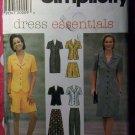 OOP Simplicity 7524 Pattern, Misses Petite Dress Top Pants Shorts Sz 14 16 18, UNCUT