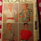 Vintage  McCalls 8609 Pattern, Misses Blouse, Sz 16, UNCUT