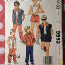 Vintage McCall's 9553 Pattern, Teen Boys Jacket, Vest, Top, Pants, Shorts, Sz 18 20, UNCUT