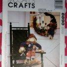 OOP McCall's 8890 Scarecrow & Wreath Pattern Sewing, UNCUT