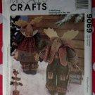 """OOP  McCall's 9069  Pattern 16-17"""" Reindeer Dolls & Tree, UNCUT"""