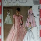 OOP McCalls 3947 Pattern, Misses Evening Elegance Quinceanera, Wedding, Formal, Dress. Sz 4-10 UNCUT