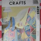 OOP McCall's 4255 Crafts Pattern, Rag Quilt and Bag, UNCUT