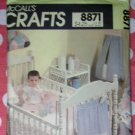 Vintage McCalls 8871 Sewing Pattern, Baby Room Essentials, UNCUT