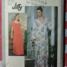 Vintage 70s Jiffy Simplicity 8463 Caftan, Muu Muu or Dress Pattern Sz Md 14-16, Uncut