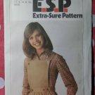 Vintage Simplicity 8189 Pattern, Misses' Back Wrap Jumper, Sz 12 14 16, Uncut