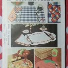 Vintage 70s Simplicity 5473 Set of Place Mats Napkins Pattern, Uncut