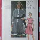 Vintage 70s Simplicity 9849 Pattern, Misses Dress, Sz 14 Bust 36, Uncut