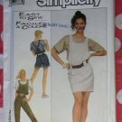 OOP Simplicity 8495 Misses Overalls Jumper Pullover Top Pattern, Sz Md, Uncut