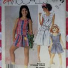 Vintage Easy McCall's 2411 Sewing Pattern, Girls Top Culotte Shorts, Size 8,  Uncut