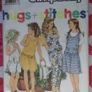 OOP Simplicity 7126 Pattern, Girls Jumper, Jumpsuit & Top, Sz Sm Md Lg, Uncut