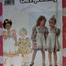 OOP Simplicity 9939 Girls Dress Pinafore Sewing Pattern, Sz 2 3 4 5 6 6X, Uncut
