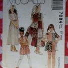 OOP McCall's 7084 Children's & Girls Dress & Top Sz 4 5 6, Uncut