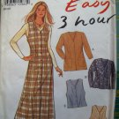 OOP Simplicity, New Look Easy 6282 Pattern, Jacket, Waistcoat Vest, Pinafore Dress, Sz 8 to18, Uncut