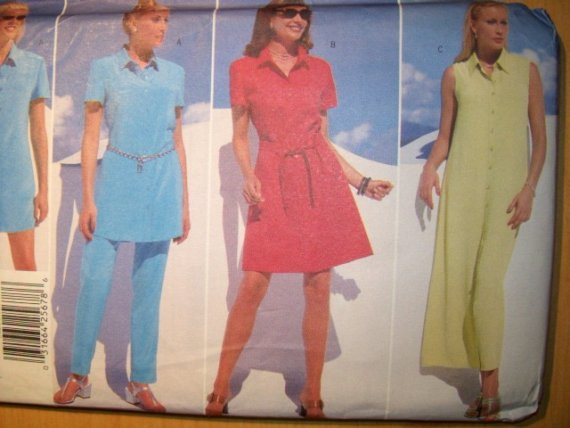 OOP Butterick Donna Ricco Designer 5039 Pattern, Dress Tunic Belt Pants,  Sz 18, 20, 22,  Uncut