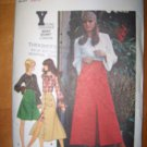Vintage 1970s 5895 Butterick Pattern Dress, or Top, and Skirt, Size 10, Uncut