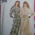OOP Easy Simplicity 7220 Pattern, Misses Shirt Dress, Sz 8 to 20, Uncut
