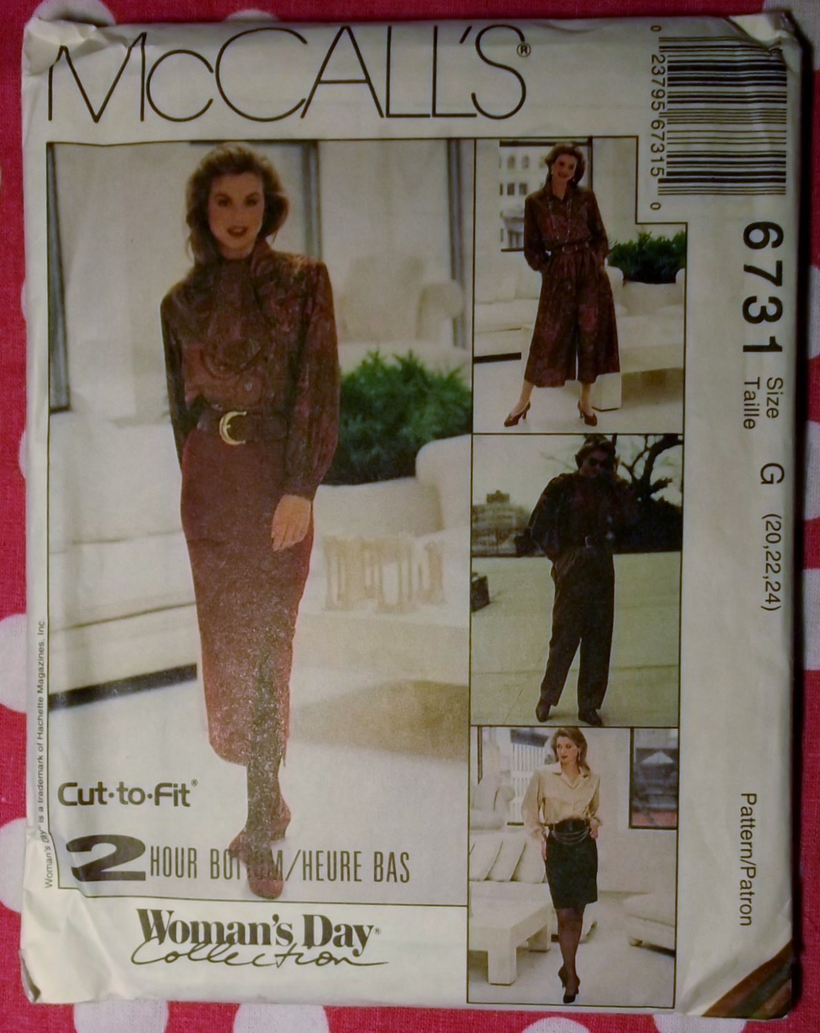 OOP 2 Hour McCalls 6731 Skirt, Split Skirt & Pants Pattern Sz 20 22 24, Uncut
