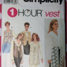 OOP Simplicity 8744 Ladies Lined Vest Set Sewing Pattern, Sz Xs Sm Md,
