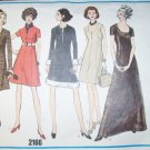 Vintage 1960s Retro Mod Vogue 2166 Pattern, Dress, Gown Fur or Jewel Trim, Size 14, Bust 36