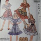 OOP Rare McCall's 7007 Sewing Pattern Misses Hoedown Tops, Skirts & Petticoat Size 6 8 10, UNCUT