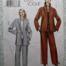 OOP Easy Vogue V7915 Pattern,  Misses  Loose Jacket & Pull-On Pants, Sz 14 16 18, Uncut