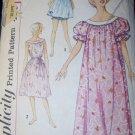 Vintage 1950s Simplicity 2566 Pattern, Misses' Muu Muu, Nightgown & Panties, Sz 8 10, Bust 31, 32