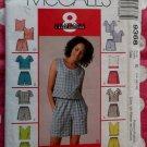 OOP Easy McCall's 9368 Patttern, Misses Tops, Shorts or Skort Sets Sz 14 16 18, Bust 36 to 40, UNCUT
