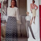 OOP Very Easy Vogue 8604 Pants & Skirt Pattern, Sz 8 10 12, Uncut