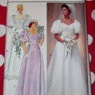 Vintage Butterick 4766 Wedding Dress Bridesmaid Gown Pattern, Sz 10, Uncut