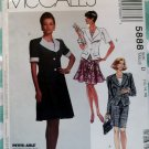 OOP McCall's 5888 Pattern Unlined Jacket, Top & Straight or Flared Skirt Sz 12 14 16, Uncut