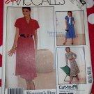 Vintage 80s McCalls 3062 Gored Belted Dress Pattern Sz 8 10 12, Uncut